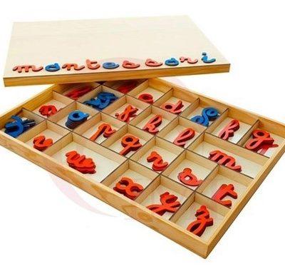 La importancia del uso del alfabeto móvil  en Montessori